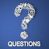 Vragenconcept. Stock Foto