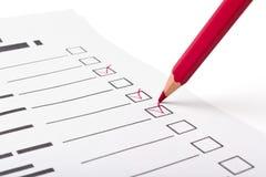 Vragenlijst Royalty-vrije Stock Fotografie