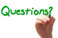 Vragenwoord Stock Foto's