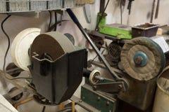 Vrai atelier domestique de la maison DIY Images libres de droits