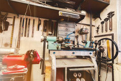 Vrai atelier domestique de la maison DIY Image libre de droits