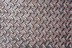 Vrai Diamond Plate Texture en acier Photographie stock libre de droits