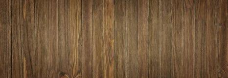 Vrai fond en bois naturel de texture et de surface, panorama Images libres de droits