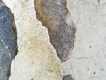 Vrai fond en pierre de texture gris Cascade Surface de roche Le GR Photos libres de droits