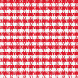 Vrai modèle sans couture de nappe classique rouge Image stock