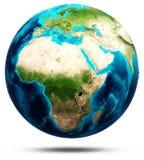 Vrai soulagement de la terre, cartes modifiées Photos libres de droits