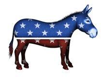 Vrai symbole de Démocrate d'âne Image stock