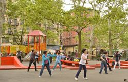 Vrai Tai Chi NYC images libres de droits