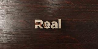 Vrai - titre en bois sale sur l'érable - 3D a rendu l'image courante gratuite de redevance Image libre de droits