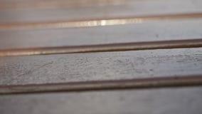 Vrai vieux fond en bois de vintage de texture Fond fonc? Les mouvements d'appareil-photo clips vidéos