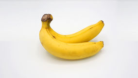 Vraie banane deux Photos stock