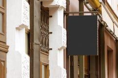 Vraie maquette extérieure vide de signe de société Images stock