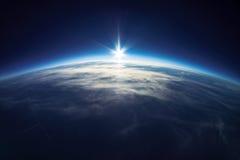 Vraie photo - près de la photographie de l'espace - 20km au-dessus de la terre Images libres de droits