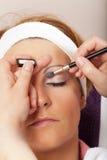 Vraie session de beauté et de maquillage - série photographie stock libre de droits
