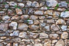 Vraie surface de mur en pierre Photographie stock libre de droits