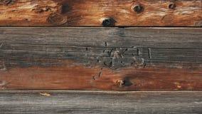 Vraie vieille texture en bois avec des clous dans elle macro banque de vidéos