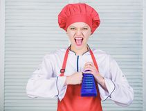 Vraiment pointu Chef principal ou nourriture saine ? cuire amateur Utile pour la quantit? importante de faire cuire des m?thodes  photographie stock libre de droits