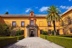 Vrais jardins d'Alcazar en Séville Espagne Images libres de droits