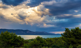 Vrana lake in Croatia. The lake with drinking water on the island of Cres, Croatia Royalty Free Stock Photography