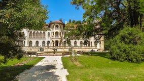 Vrana slott i ett parkeramuseum Vrana Varna var en sommaruppehåll sofia lökformig Royaltyfri Fotografi