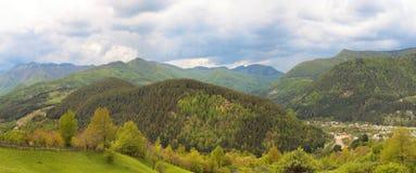 Vrancea mountains panorama Stock Photo