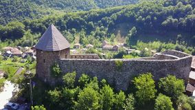 Vranduk fortress. The fortress Vranduk is a fortification in the area of Zenica, Bosnia and Herzegovina. It was declared as a national monument of Bosnia and Royalty Free Stock Photos
