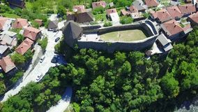 Vranduk fortress. The fortress Vranduk is a fortification in the area of Zenica, Bosnia and Herzegovina. It was declared as a national monument of Bosnia and Royalty Free Stock Photo