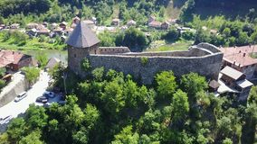 Vranduk fortress. The fortress Vranduk is a fortification in the area of Zenica, Bosnia and Herzegovina. It was declared as a national monument of Bosnia and Royalty Free Stock Image