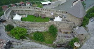 Vranduk fortress. The fortress Vranduk is a fortification in the area of Zenica, Bosnia and Herzegovina. It was declared as a national monument of Bosnia and Stock Photo