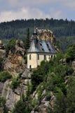 Vranov in Mala Skala. Chapel in the castle Vranov in Mala Skala - Czech Republic Royalty Free Stock Photography