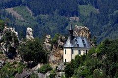 Vranov in Mala Skala. Chapel in the castle Vranov in Mala Skala - Czech Republic Royalty Free Stock Image