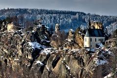 Vranov in Mala Skala. Chapel in the castle Vranov in Mala Skala - Czech Republic Royalty Free Stock Photo