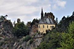 Vranov in Mala Skala. Chapel in the castle Vranov in Mala Skala - Czech Republic Stock Photography