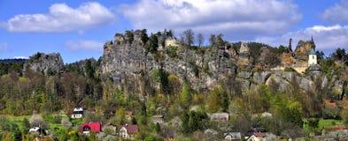 Vranov in Mala Skala. Chapel in the castle Vranov in Mala Skala - Czech Republic Royalty Free Stock Images