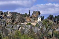 Vranov in Mala Skala. Chapel in the castle Vranov in Mala Skala - Czech Republic Royalty Free Stock Photos