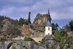 Vranov in Mala Skala. Chapel in the castle Vranov in Mala Skala - Czech Republic Stock Images