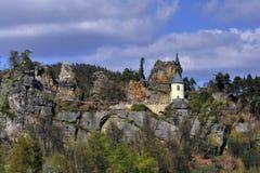 Vranov in Mala Skala. Chapel in the castle Vranov in Mala Skala - Czech Republic Stock Image