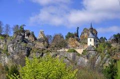 Vranov in Mala Skala. Chapel in the castle Vranov in Mala Skala - Czech Republic Stock Photos