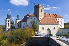 Vranov nad Dyji. The old czech castle Stock Photography