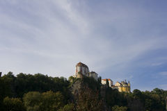 Vranov nad Dyji. Beautiful castle on hill in Vranov Stock Photo