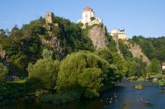 Vranov nad Dyji, Czech republic. Castle Vranov nad Dyji in the Southern Moravia, Czech republic. The castle stands on a high rock above the river Dyje Royalty Free Stock Image