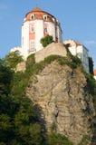 Vranov nad Dyji, Czech republic. Castle Vranov nad Dyji in the Southern Moravia, Czech republic. The castle stands on a high rock above the river Dyje Royalty Free Stock Photo