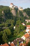 Vranov nad Dyji, Czech republic. Castle and town Vranov nad Dyji in the Southern Moravia, Czech republic. The castle stands on a high rock above the river Dyje Royalty Free Stock Images