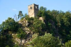 Vranov nad Dyji, Czech republic. Castle Vranov nad Dyji in the Southern Moravia, Czech republic. The castle stands on a high rock above the river Dyje Stock Photos