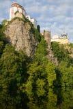 Vranov nad Dyji, Czech republic. Castle Vranov nad Dyji in the Southern Moravia, Czech republic. The castle stands on a high rock above the river Dyje Stock Photo