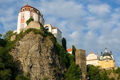 Vranov nad Dyji, Czech republic. Castle Vranov nad Dyji in the Southern Moravia, Czech republic. The castle stands on a high rock above the river Dyje Stock Photography
