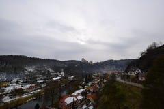 Vranov nad Dyji slott, Tjeckien arkivfoton