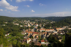 Vranov nad Dyji. Top view of the Old City Vranov Stock Image