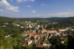 Vranov nad Dyji. Top view of the Old City Vranov stock image
