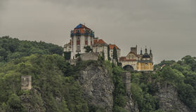 Vranov nad Dyji town with castle in cloudy day Stock Images